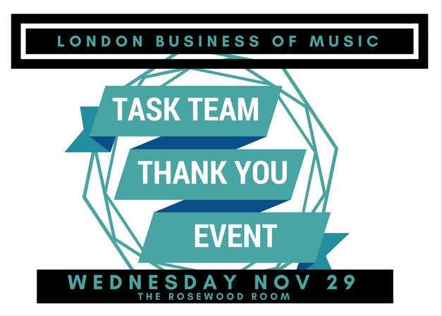 London Business of Music Task Team Thank You!