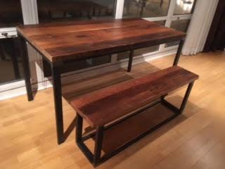 Reclaimed Wood and Metal Table (An Arc Academ