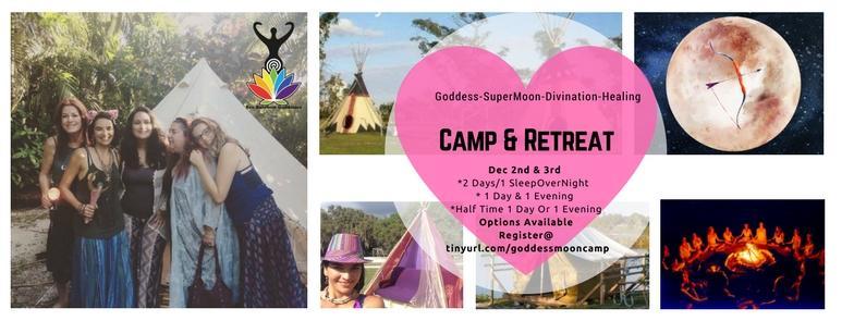 Goddess SuperMoon Divination Healing Camp & Retreat