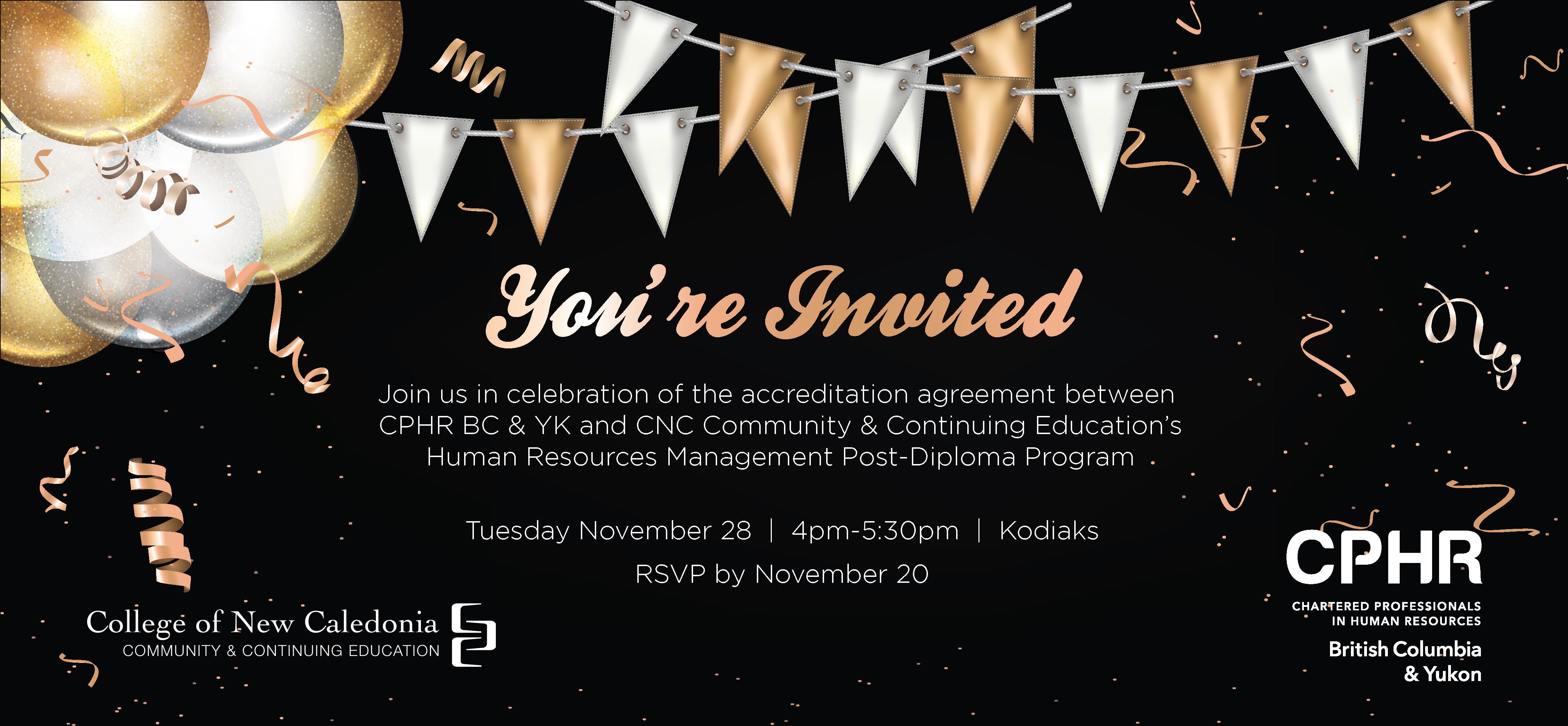 Inspirational image of human resources certification programs celebration of cnc s human resources program kodiaks restaurant xflitez Gallery