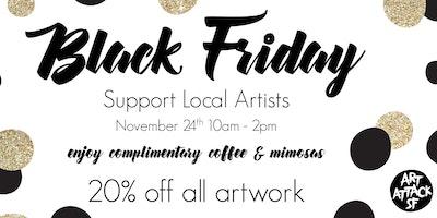 Black Friday at Art Attack SF - 20% off artwork