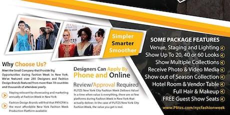 FASHION WEEK NY - TWO SEASON DELUXE FASHION DESIGNER PACKAGE (FEBRUARY & SEPTEMBER NY FASHION WEEK SEASON) 120 LOOKS - $7,500 tickets