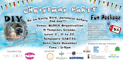 EARLY birds before 2nd Dec- Christmas Party @ Tampines