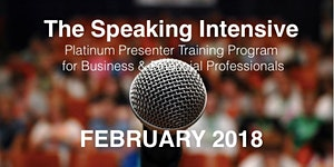 The Speaking Intensive February 2018