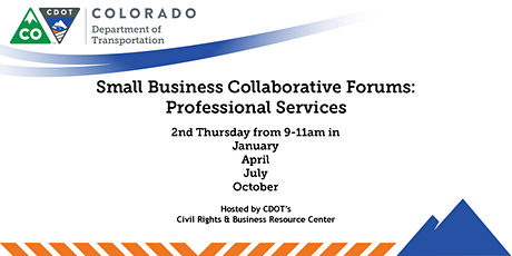 CDOT Professional Services Small Business Forum tickets
