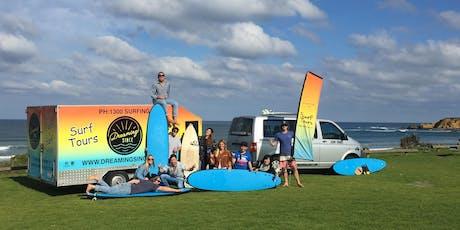 THE DREAM TRIP - Melbourne to Brisbane, 3 Week Surfing Road-Trip tickets