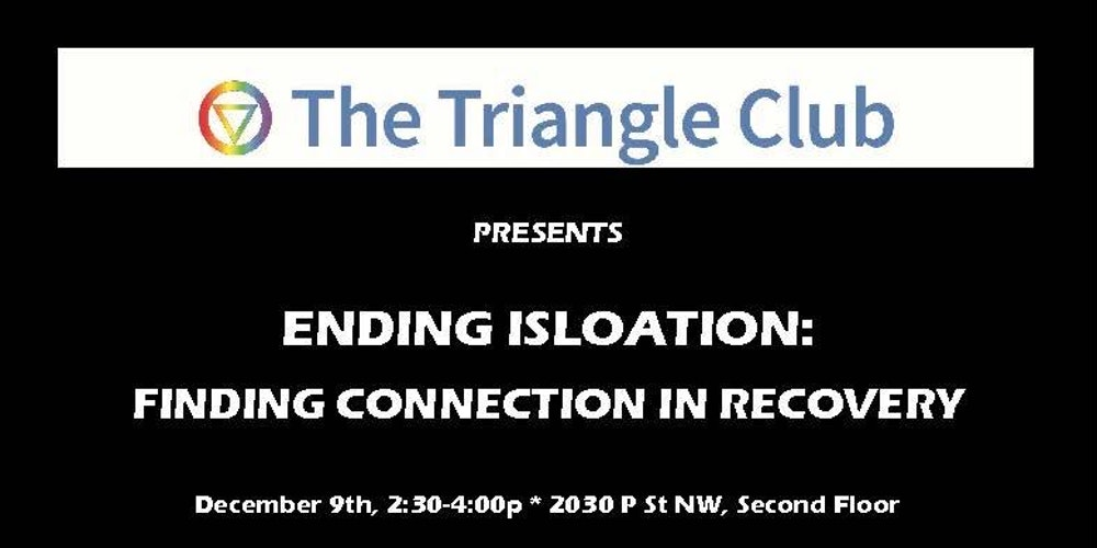 ENDING ISOLATION: Finding Connection in Recovery Tickets, Sat, Dec 9, 2017  at 2:30 PM | Eventbrite