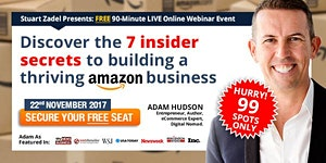 MELBOURNE 'Amazon Secrets' Masterclass: 8pm Online...