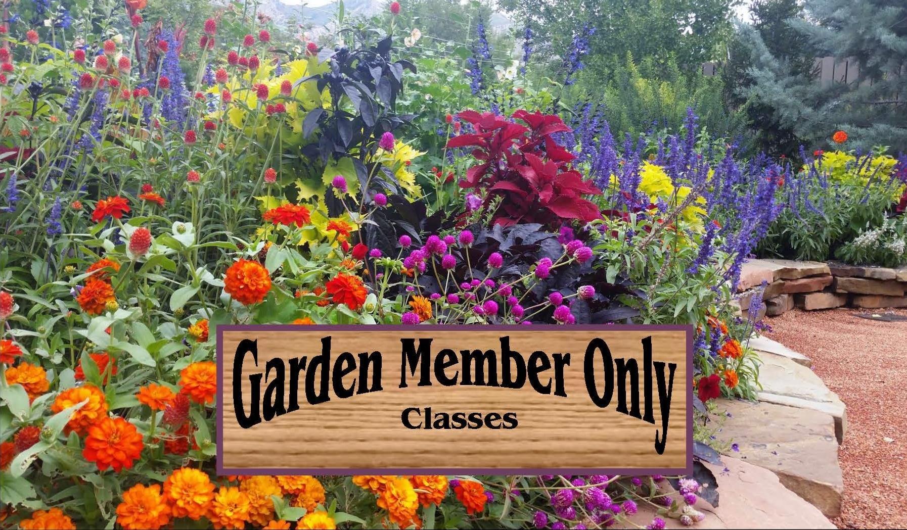 USU Garden Members Class Series 2018