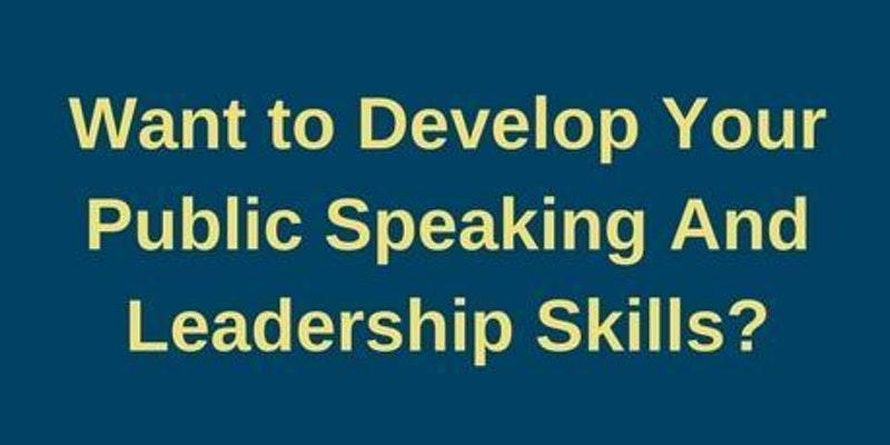 Develop Your Public Speaking at Capital Commu