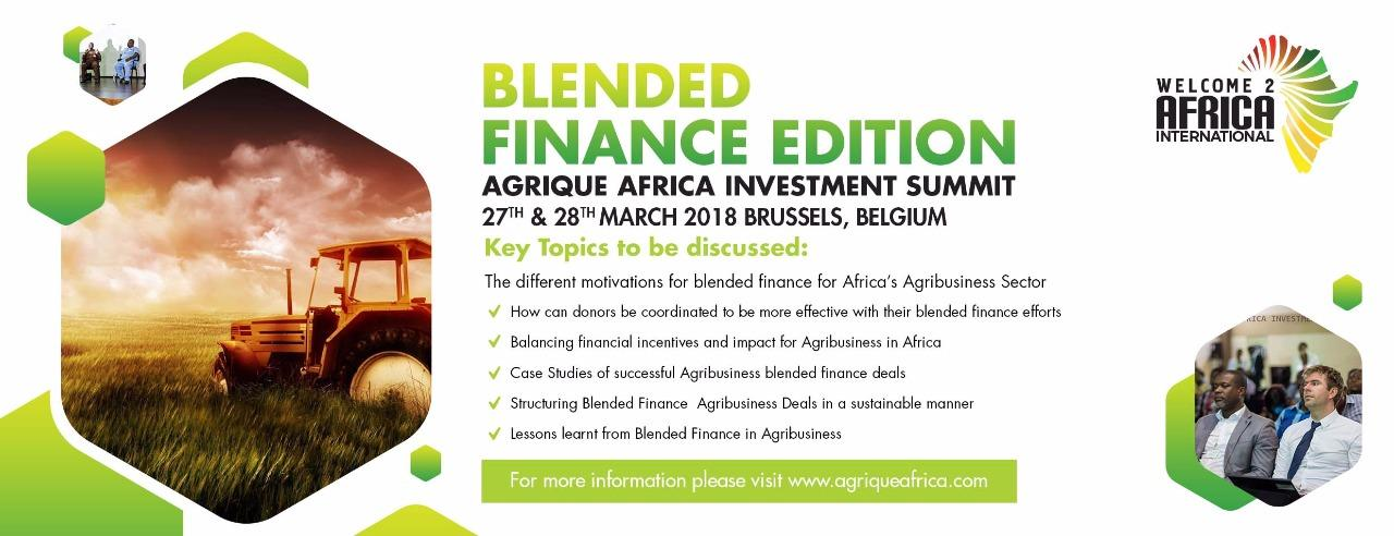 BLENDED FINANCE EDITION OF THE AGRIQUE AFRICA