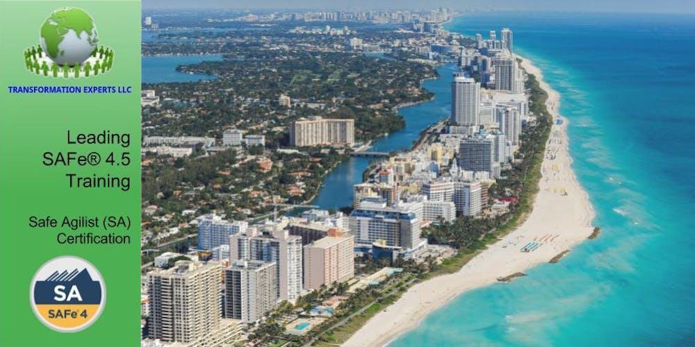 Leading Safe 45 Training Safe Agilist Sa Certification Miami