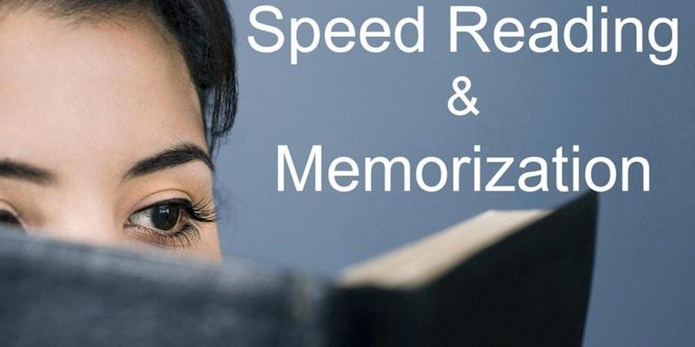 Speed Reading Memorization Class In Toronto Tickets Multiple