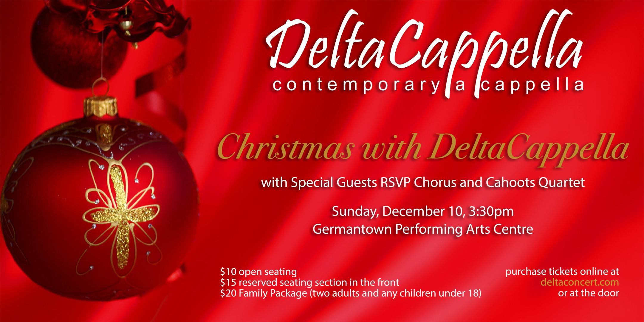 Christmas With Deltacappella | Germantown, TN | Germantown Performing Arts Center | December 10, 2017