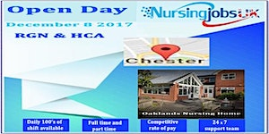 Chester Open Day Recruitment For RGN's & HCA's