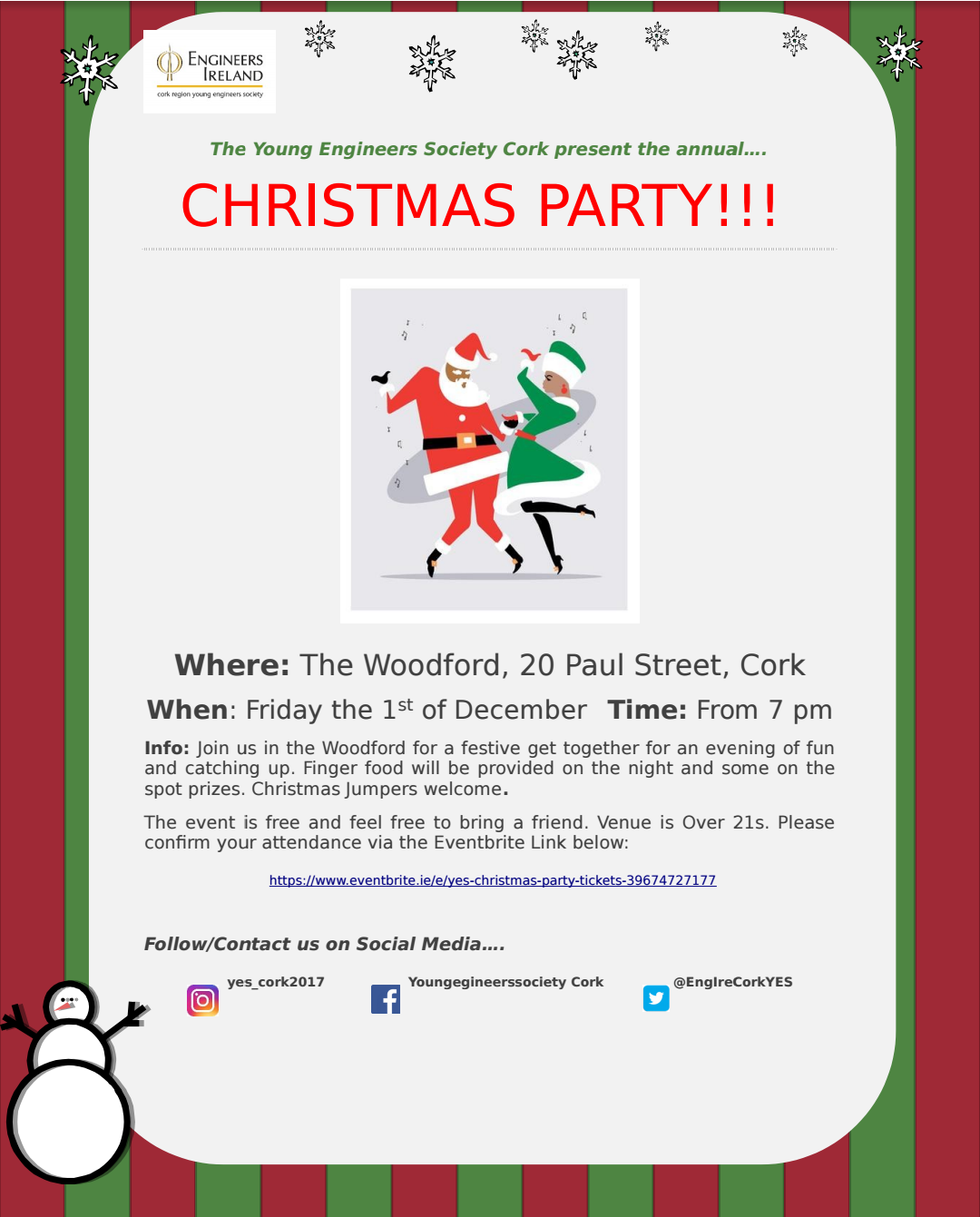 Young Engineers Society Christmas Party