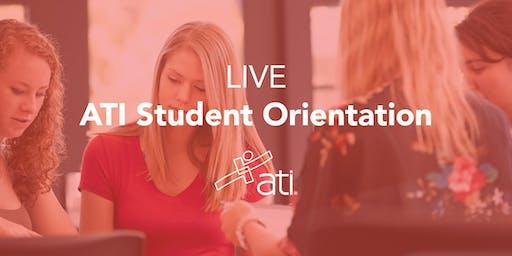 Live ATI Student Orientations 2019