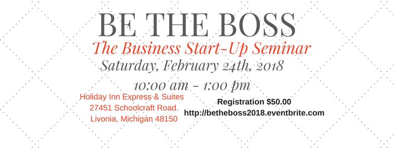 Be The Boss - The Start-Up Business Seminar