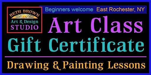Art Class Gift Certificate ~ Drawing & Painting Lessons