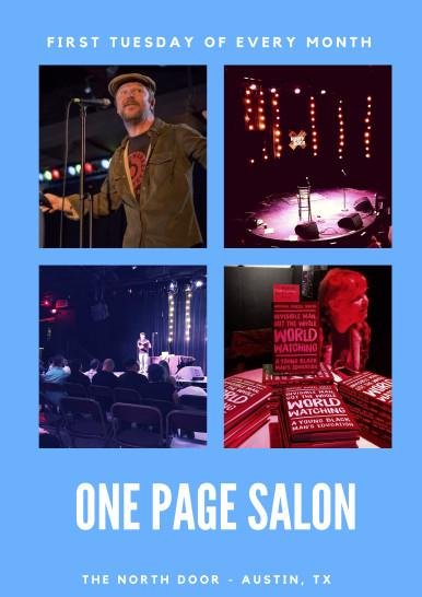 One Page Salon with Owen Egerton