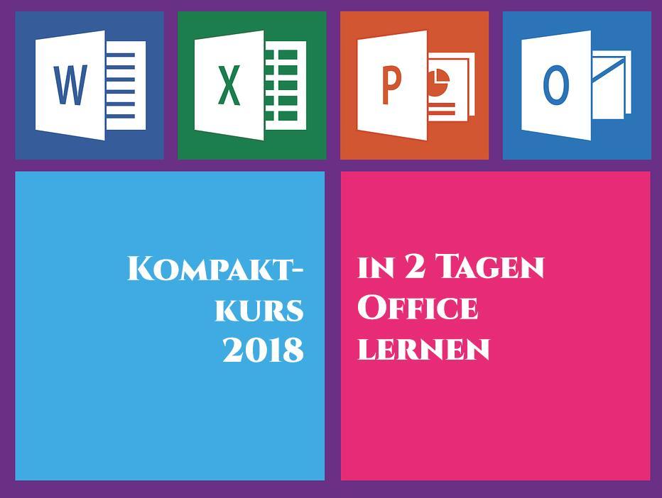 Office 2016 (365) Kompakt-Kurs 2 Tage vom 13.01.-14.01.2018 in Frankfurt