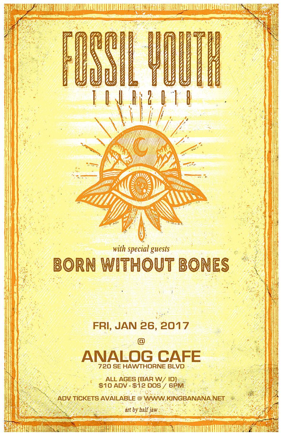Fossil Youth, Born Without Bones, Waterfronts, Tuna Head, & Spencer Baker