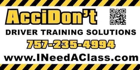 Norfolk Virginia Driver Improvement Classes - 23502, 23503, 23504, 23505, 23507, 23508, 23509, 23510, 23511, 23513, 23517, 23518, 23523, 23551. tickets
