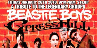 A Tribute to The Beastie Boys and Cypress Hill Friday January 26th, 2018 at Cash Only Ft Lauderdale