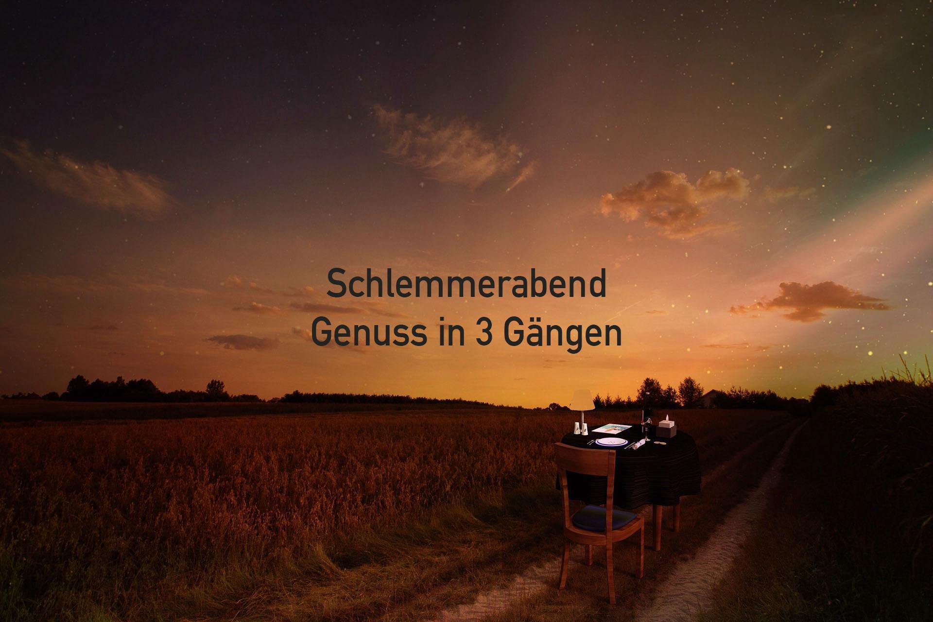 """Schlemmerabend """"Frühling"""" - 3-Gang-Menü an de"""