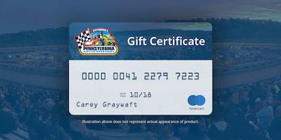 Gift Certificate for 2019 Race Season