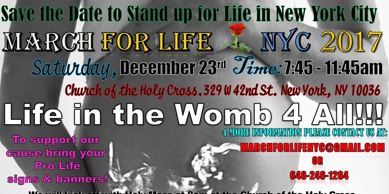 March  for  Life  NYC  2017