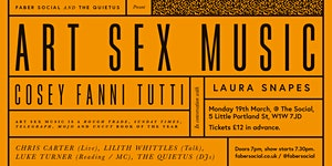 Faber Social Presents Art Sex Music with Cosey Fanni Tu...