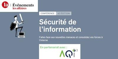 Conférence les Affaires : Sécurité de l'information