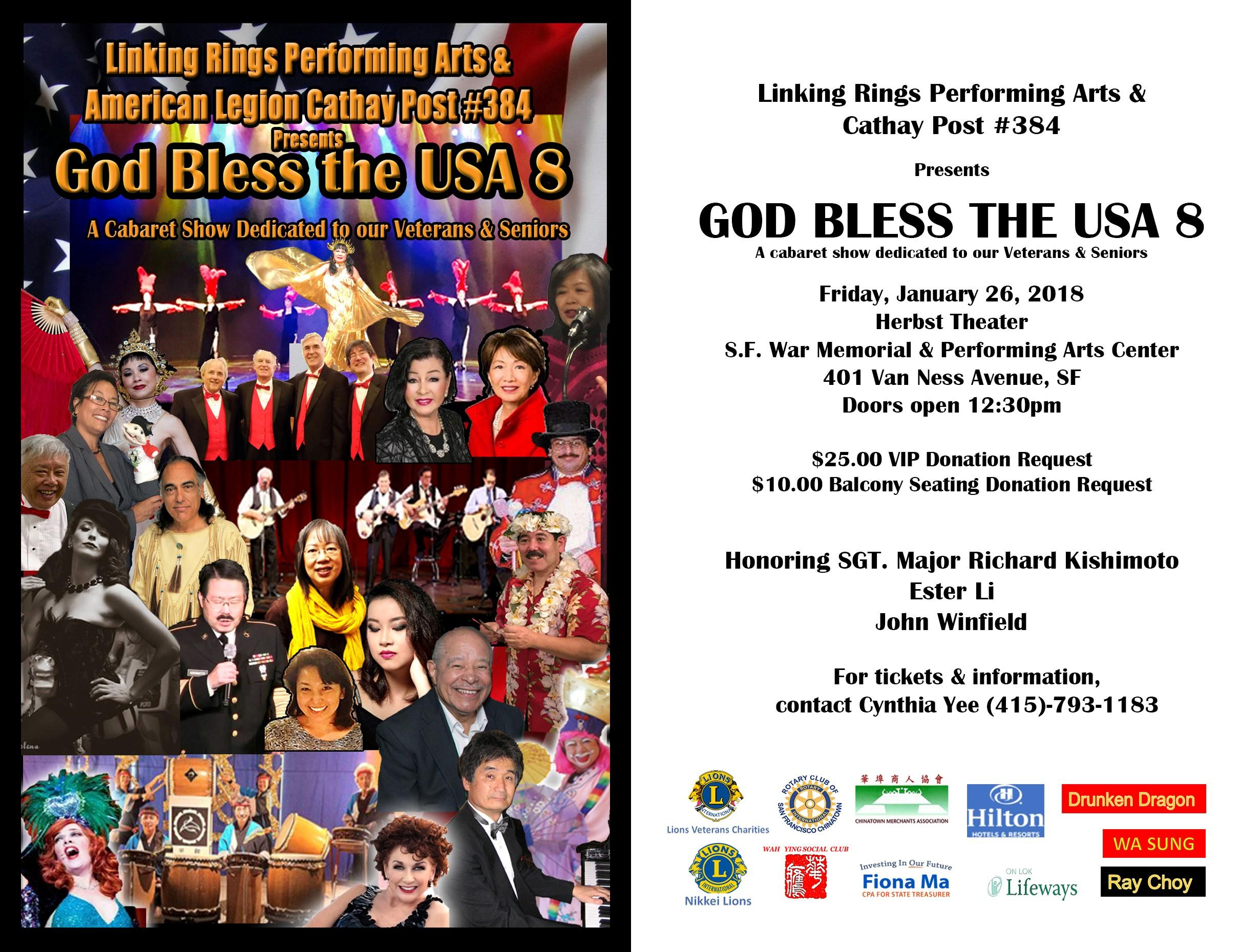 GOD BLESS THE USA #8 at War Memorial Opera House in San