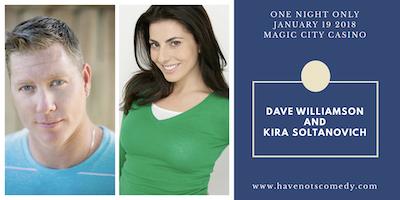 Dave Williamson and Kira Soltanovich LIVE at Magic City Casino