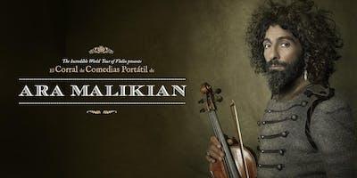 Ara Malikian en Zaragoza. The Incredible World Tour of Violin presenta El Corral de Comedias Portátil