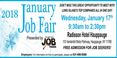 2018 January Job Fair hosted by the Long Island Job Finder