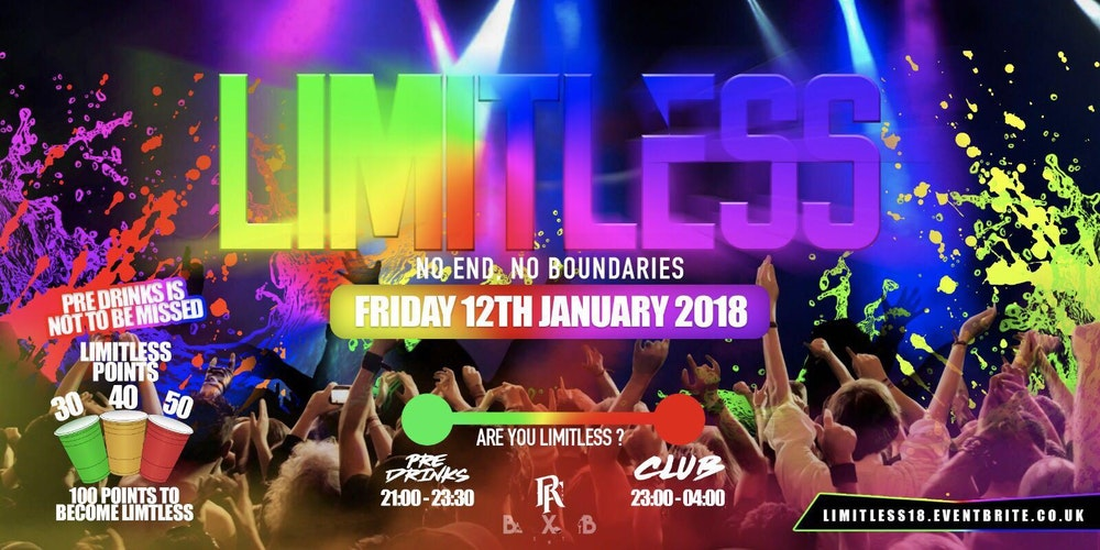 Limitless18 tickets fri 12 jan 2018 at 2100 eventbrite limitless18 tickets fri 12 jan 2018 at 2100 eventbrite malvernweather Image collections