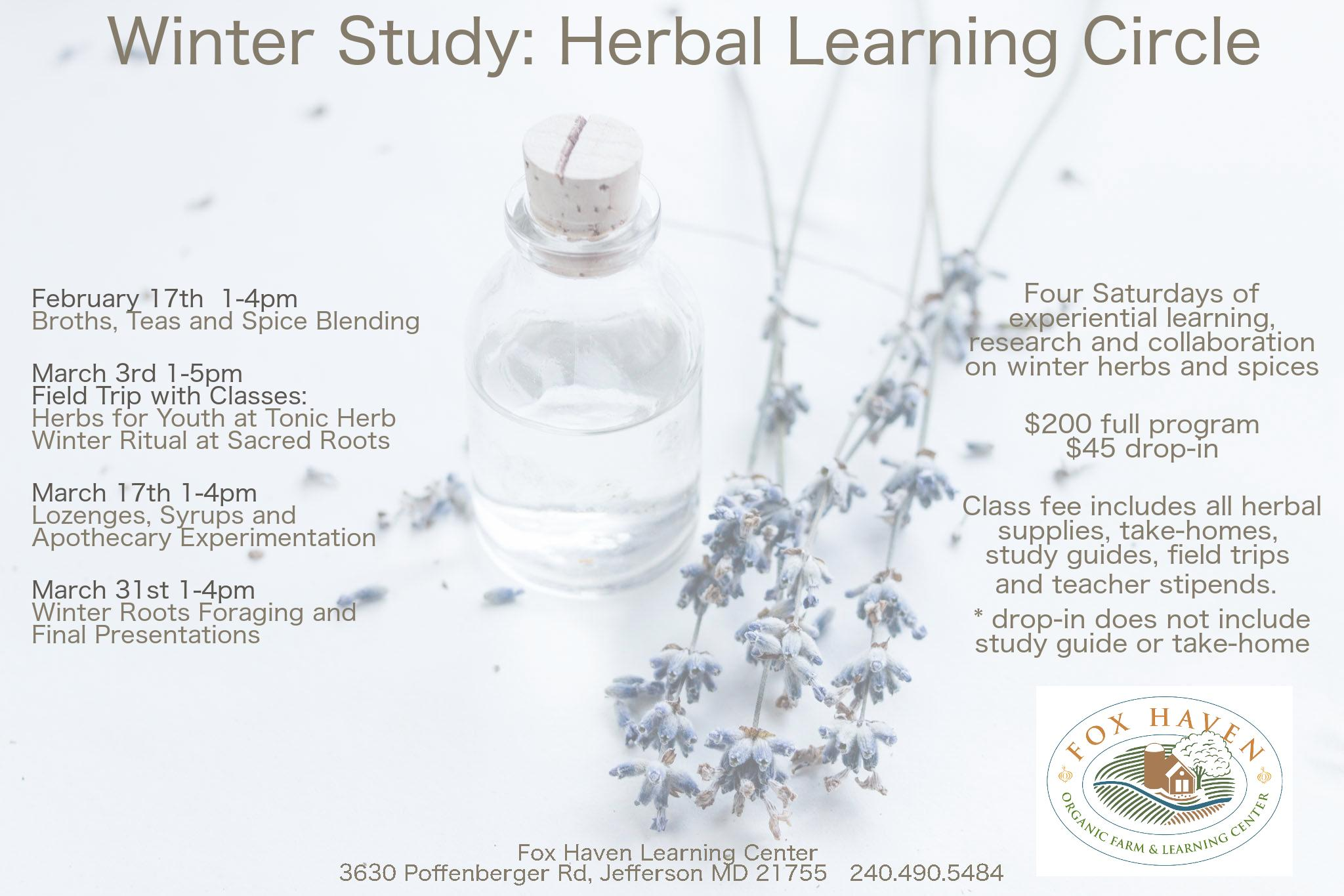 Field Trip - Tonic Herb Shop / Winter Study: Herbal Learning Circle