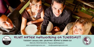 Rome Expats Flirt After Networking on Tuesday Aperitif