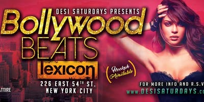 event in New York City: Bollywood Beats - A Weekly Saturday Night DesiParty @ Lexicon NYC