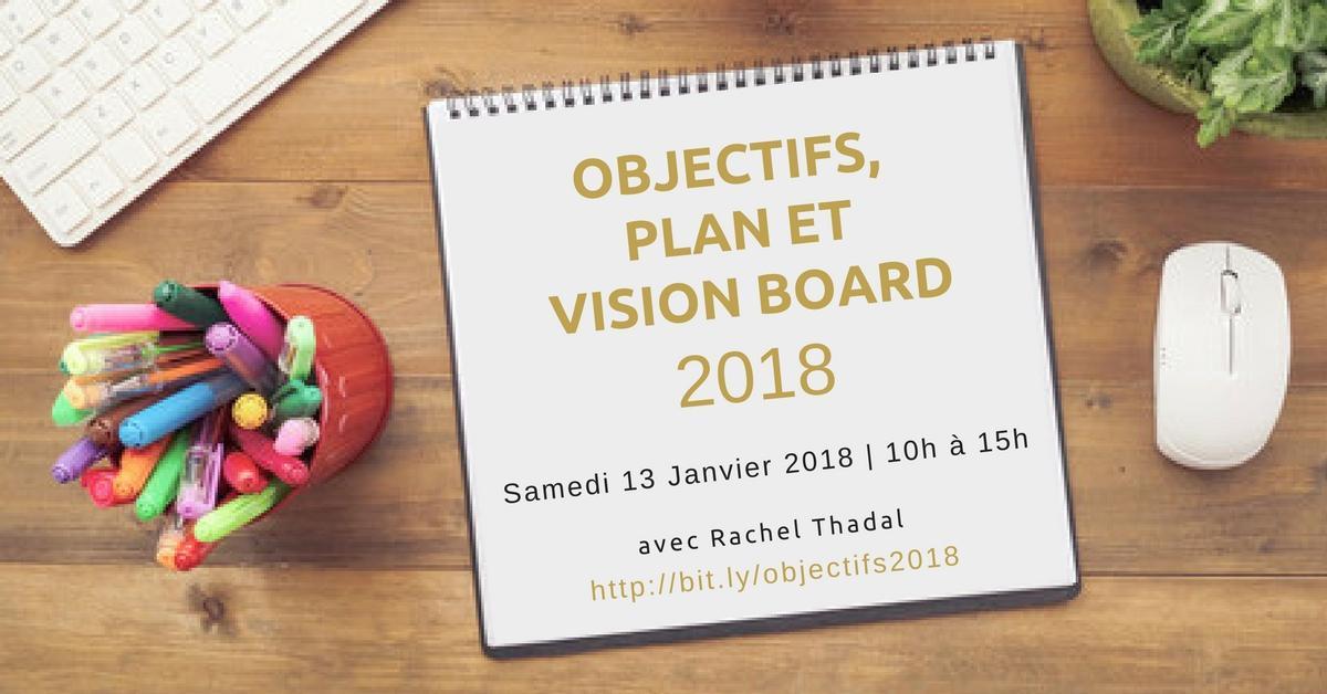 Objectifs, Plan & Vision Board #2018