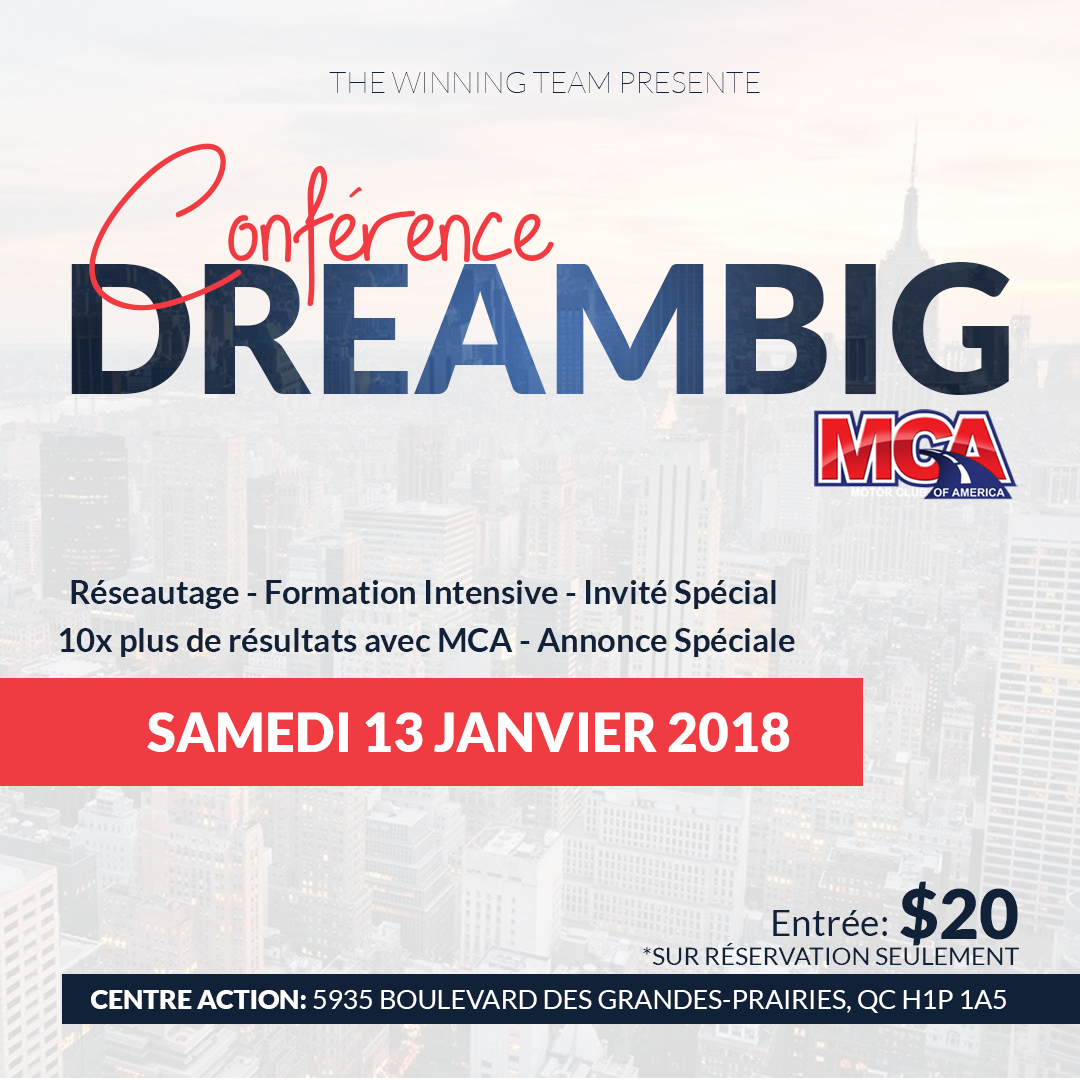 CONFÉRENCE DREAMBIG