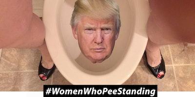 WOMEN WHO PEE STANDING! ********** A Russian Hooker Pee-Pee Party!