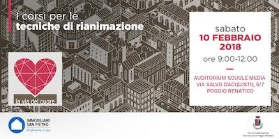 """10/02/2018 Corso Gratuito su """"Tecniche di Rianimazione e Disostruzione delle vie aeree"""" a POGGIO RENATICO  (FE)"""