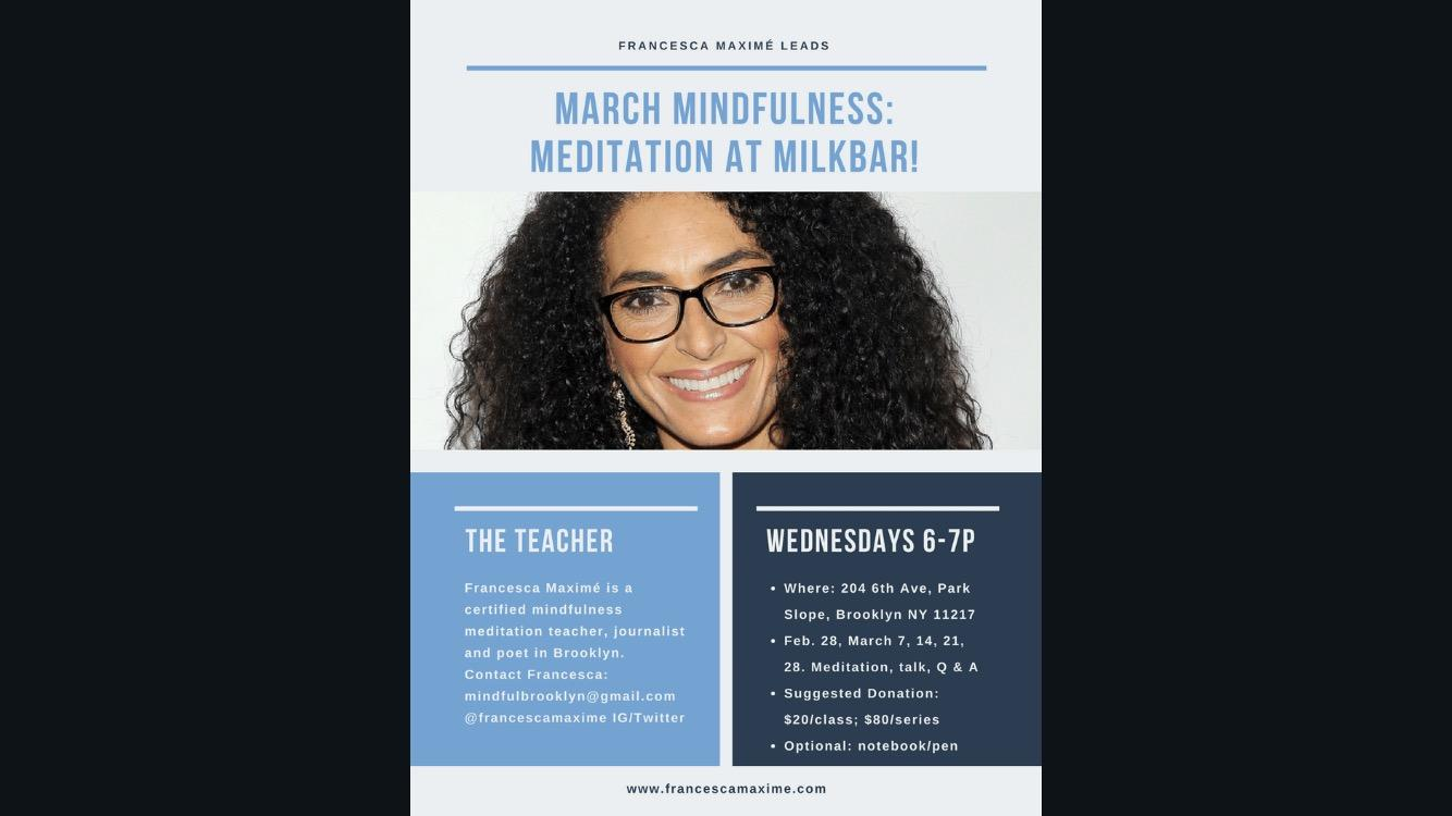 March Mindfulness Meditation with Francesca M