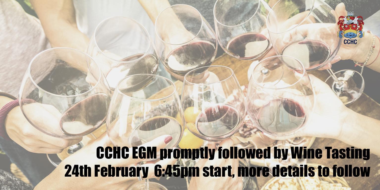 CCHC EGM followed by Wine Tasting Evening