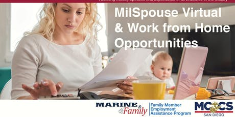 MilSpouse Virtual & Work from Home Opportunities tickets