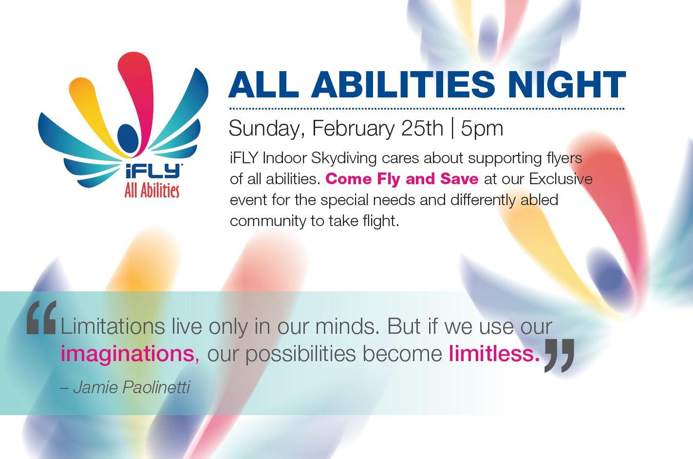 iFLY OKC ALL ABILITIES NIGHT - $39.95