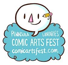 Peninsula Libraries Comic Arts Fest logo